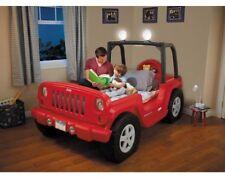 Jeep Toddler Bed Twin Boys Storage LED Lights Kids Car Bedroom Furniture Red New
