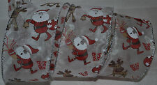Wired Ribbon~Sheer~Santa Claus~Christmas Deer~Holiday Red~White~Wreath~Gift~Bow