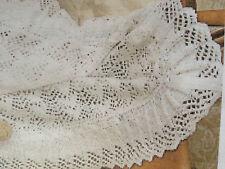 KNITTING PATTERN to KNIT a babies Heirloom Heart fancy Shawl / Blanket