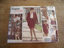 "VINTAGE ""VOGUE CAREER WARDROBE JUPE/ROBE/PANTALON/VESTE DROITE/BLOUSE 12/14/16"