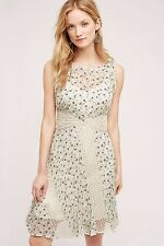 NWT SZ 6 $178 ANTHROPOLOGIE WINDSWEPT LACE DRESS BY FLOREAT FIT AND FLARE