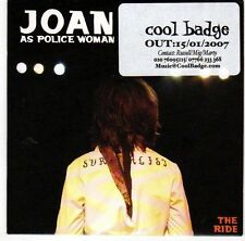 (EL207) Joan As Police Woman, The Ride - 2007 DJ CD