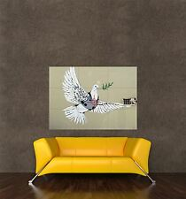 POSTER PRINT PAINTING GRAFFITI BANKSY PEACE DOVE CROSSHAIR BULLET PROOF SEB124