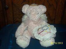 FIRST & MAIN PINK ANGEL TEDDY BEAR PLUSH W PILLOW THANK HEAVEN FOR LITTLE GIRLS