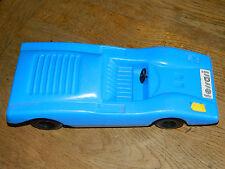 vintage CAR voiture en plastique FERRARI BLUE toy JOUET ANCIEN