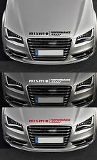 FOR NISMO -  PERFORMANCE BONNET CHECKS - CAR DECAL STICKER SKYLINE  - 600mm long