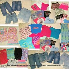 Huge Lot 39pcs Girl's size 10-12 Summer Clothing Justice Gymboree Levi's EUC