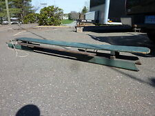 "EARLY 20th century large ANTIQUE primitive WOODEN sled MAINE ~ BLUE 12' x 22"" w"