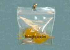 """5000 PCS 4"""" x 4"""" Zipper Reclosable Plastic Poly Clear Bags with Hang Hole 2 Mil"""