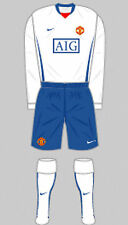 Mens Football Shirt & Shorts Kit - Manchester United - Away 2008 - Nike - M