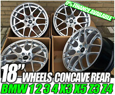 "18"" BMW 1 & 3 SERIES CSL STYLE HYPERSILVER CONCAVE ALLOY WHEELS RIMS"
