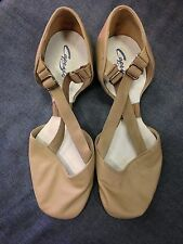 Capezio 322 Women's Size 5.5 Medium Tan X-Strap Pedini Jazz Lyrical Shoe