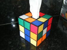 RUBIK  CUBE STYLE TISSUE BOX COVER- BIG BANG THEORY-US TV-RUBIC-RUBIX MAPPED