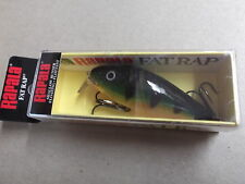 Hard to Find Special Rapala Wood Shallow Fat Rap 7,SFR-7 P,Perch