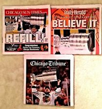CHICAGO BLACKHAWKS 2013 STANLEY CUP CHAMPS NEWSPAPERS Tribune, Sun Times,Herald