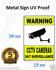 2x Metal Reflective Warning CCTV Security Surveillance Camera Alloy SIGNS 22x30