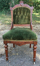 Victorian/Eastlake Chair Cherry/Mahogany Hand-tied Springs Very Nice