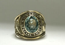 CLASS RING 14K RMJ YELLOW  GOLD US ARMY SPECIAL FORCES MEN SIZE 9 1/2