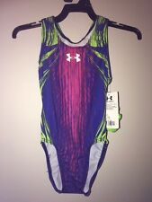Under Armour UA Radiant Tank Gymnastics  Leotard New Size Child Medium CM.