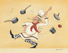 Dancing Chef by Stephanie Marrott Kitchen Art Open Edition 11 x 14 On Paper