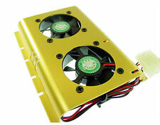 SHDC-B Dual  50mm Ball Bearing Fan Hard-Drive Cooler