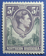 1938 NORTHERN RHODESIA 5S SCOTT# 43 S.G.# 43 UNUSED                      CS09221