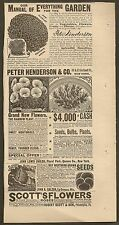 VINTAGE AD FOR PETER HENDERSON ASTERS, JOHN LEWIS CHILDS SEEDS & SCOTT'S SEEDS
