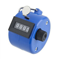 Hand Tally Click Counter with 4 Digital Number Finger Display Counter Blue