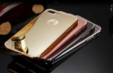 ALUMINIUM METAL BUMPER + MIRROR PC BACK COVER CASE FOR IPHONE 7 PLUS + (5.5)