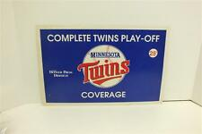 Minnesota Twins St Paul Pioneer Press Dispatch Playoff Newspaper Stand Ad (50034