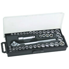 "Pittsburgh Standard SAE & Metric 40 Piece Socket Set 3/8"" Drive Ratchet Wrench"