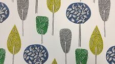 Scandi Trees Emerald Green Curtain Craft Upholstery Designer Cotton Fabric