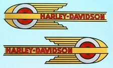 DECALS for Gas Tanks 1936 - 1939 Harley - Davidson VL Knuckle UL 45 Servi-Car