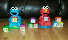 LOT SESAME ELMO'S FIND & LEARN ALPHABET BLOCKS & COOKIE # INTERACTIVE LEARN TOYS