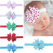 10pcs Crystal Baby Dot Headband Infant Toddler Bow Hair Band Girls Accessories