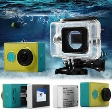 Set LCD Screen Waterproof Case 2400mAh Battery for Xiaomi Yi Action Camera