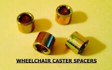 WHEELCHAIR CASTER SPACERS, FITS MOST CHAIRS. QUICKIE, INVACARE, COLOURS, TILITE.