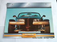 CARTE FICHE VOITURES D'EXCEPTION PLYMOUTH PROWLER