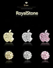 GREEN jewelled Diamond Crystal  Home Button & Logo x 1 For iPhone 5/4/4S