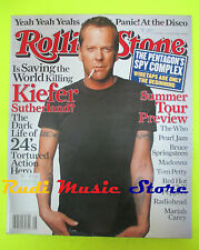 ROLLING STONE USA MAGAZINE 998/2006 Kiefer Sutherland Ryan Ross New Dolls No cd
