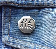 Chinese Year of the Monkey Pewter Pin Badge
