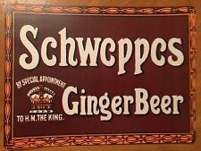Tin Sign Vintage Schweppes Ginger Beer