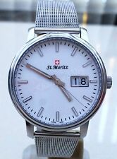 NEW Rotary St.Moritz Swiss Made Watch Mesh Bracelet Sapphire Glass Slim RRP£250