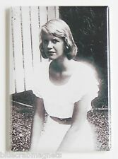 Sylvia Plath FRIDGE MAGNET (2.5 x 3.5 inches) poems poetry poet writer