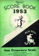 1953 Official San Francisco Seals Score Book - Pacific Coast League EXCELLENT