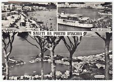 NAPOLI ISCHIA 23 ISOLA - PORTO SALUTI da... Cartolina FOTOGRAFICA VIAGGIATA 1961