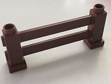 *NEW* 2 Pieces Lego DUPLO REDDISH BROWN FENCE 1X6X2