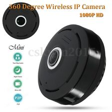 Mini 360 Degree Wireless IP Camera 1080P HD Panoramic Two Way Audio Wifi Fisheye