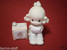 JOIN IN THE BLESSINGS Precious Moments Collector's E0404 GIRL with PIGGY BANK