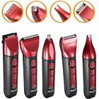 5In1 Washable Rechargeable Electric Hair Trimmer Clipper Nose Razor Beard Shaver